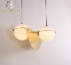Modern simple elegant white glass combination creative decoration chandelier lamps and lanterns