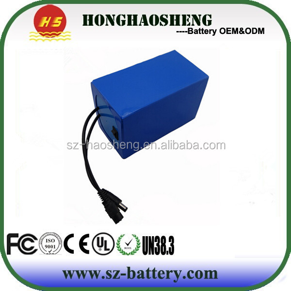Rechargeable 18650 Lithium ion 12V 24V Battery Packs 10Ah 12Ah 13Ah