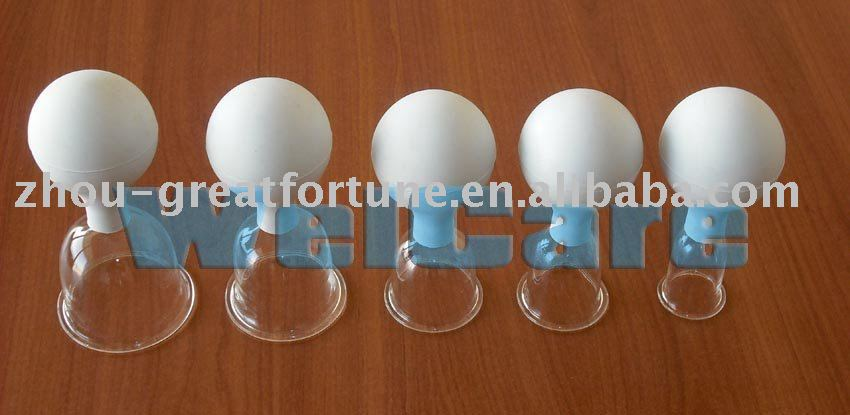 Rubber Bulb Suction Glass Cupping Set 5cups Buy Rubber