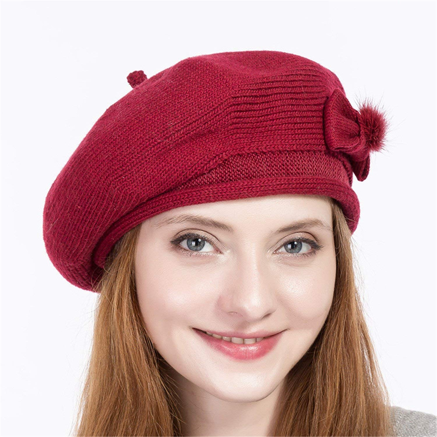 80e71dd8aa7a7 Get Quotations · Miki Da New Wool hat women s winter warm woolen vintage french  beanie hat cap gift sweet
