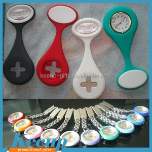 Promotional Merchandise Silicone Rubber Brooch Nurse Watch