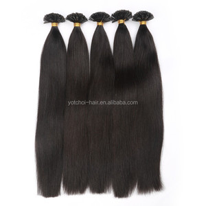 Remy Virgin Indian U/Nail Tip Silky Straight Human Hair Extension