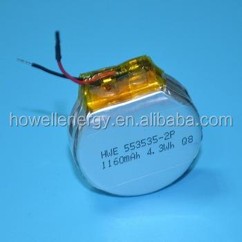 Lithium polymer battery round