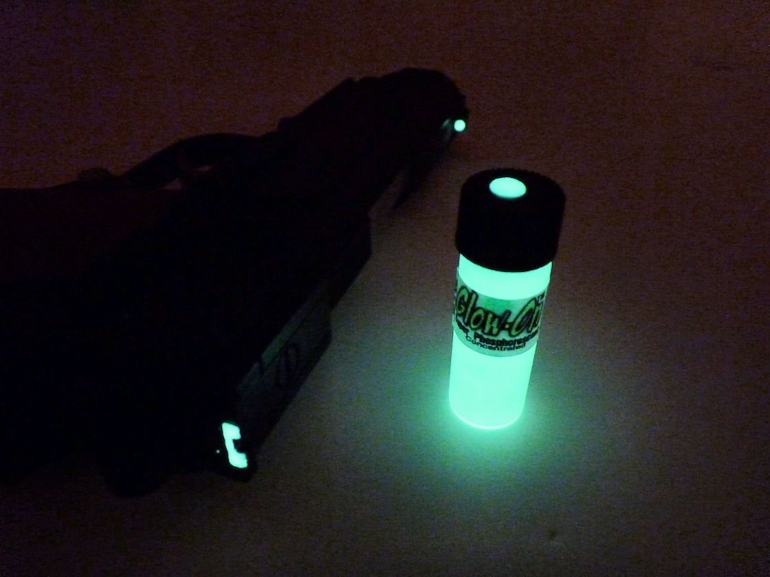 GLOW-ON ORIGINAL Color, Super Phosphorescent Gun Night Sights Paint medium size 4.6 ml vial. Gold standard of glow paints.Super bright long lasting glow.