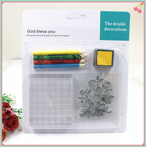 beautiful packing a whole stamp set for children using rubber silicone stamps