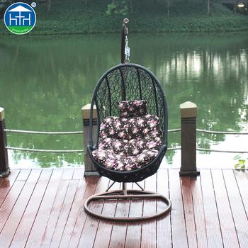 DW HC2016504 Rattan Nest Chair Oval Basket Beach Egg Shaped Chair Patio  Furniture