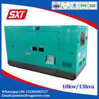 Low price silent type 10kw diesel generator with Janpan engine
