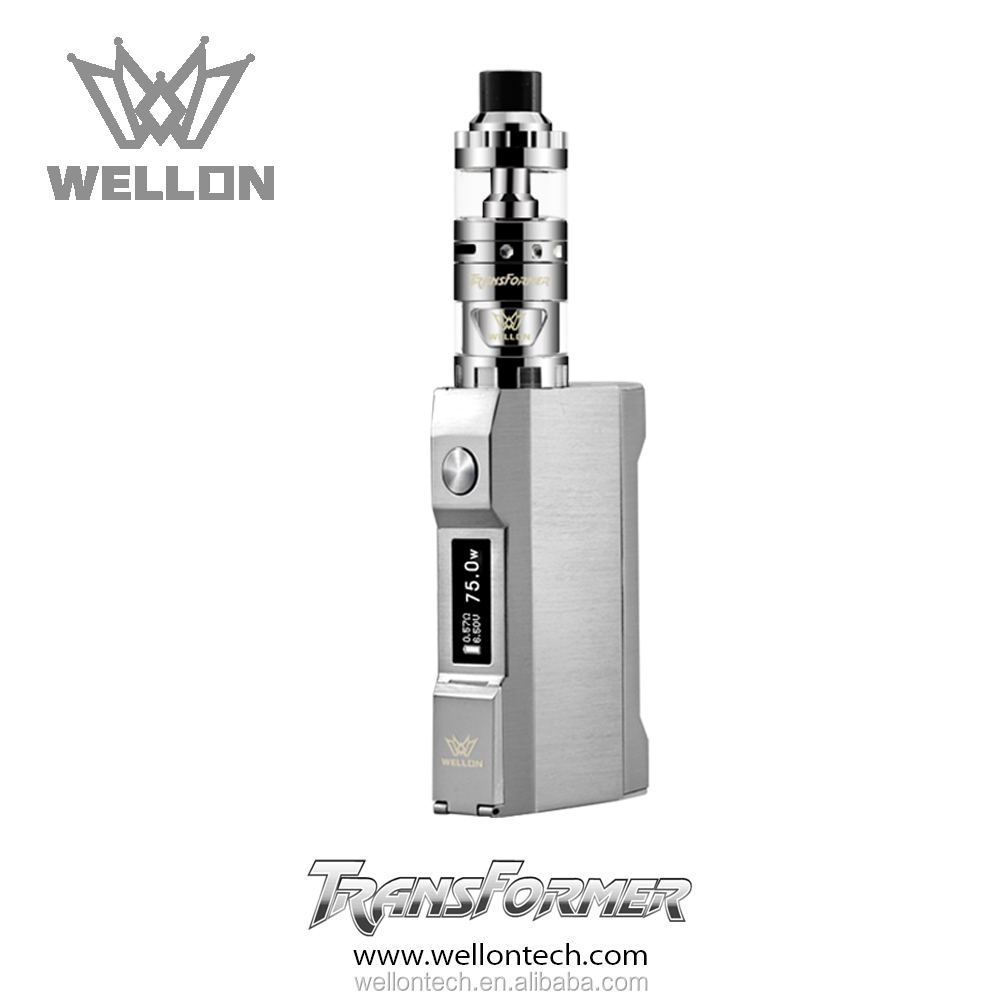 Big vapor smoke BOX MOD e cig Wellon 75w transformer mod with favourable price