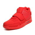 Men Training Air Basketball Shoes Men Outdoor Mid High Top Red Basket Homme Sneakers Lace Up