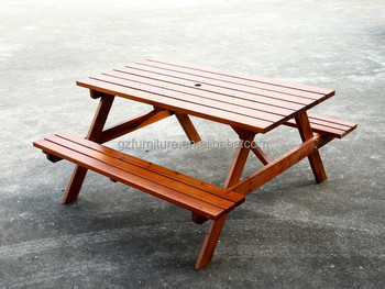 Wooden Picnic Table Outdoor Picnic Table With Umbrella Hole Buy