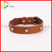 Five-pointed Star Pet Accessories Dog Collar Leather Collars