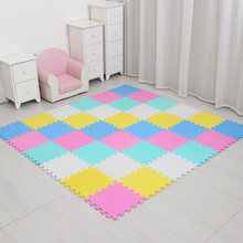 Meiqicool детский коврик-пазл из вспененного этилвинилацетата, для детей, с блокировкой плитки, напольный ковер, по 29x29 см, напольный коврик(Китай)