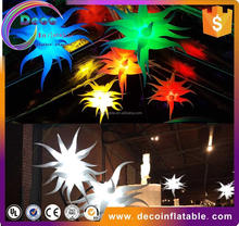 Costume inflatable children's party decoration hanging led light inflatable star with CE