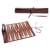 Stylish Distinctive Board Game Roll Up Design Leather Portable Backgammon Set