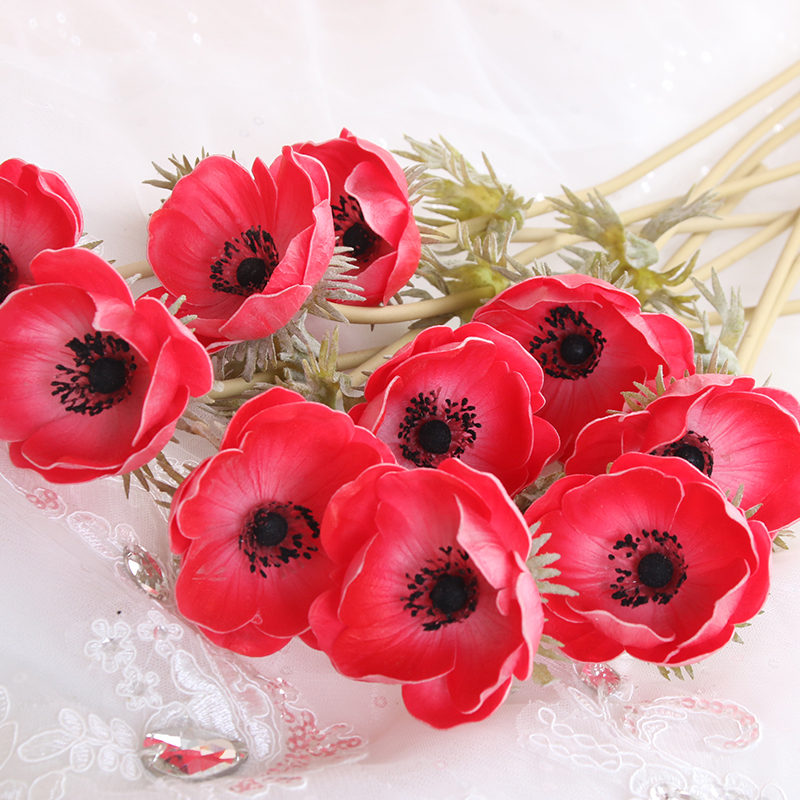 Artificial Silk Poppy Stem For Decoration Artificial Poppy Buy Artificial