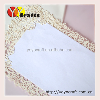 Handmade Wedding Invitation Card Lace Paper Blank Models