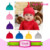 Wholesale Fashion Newborn Toddler Girls Knit Knotted Hat Beanie Cap Cotton Adjustable Baby Knot Bonnet Hat With Big Flower