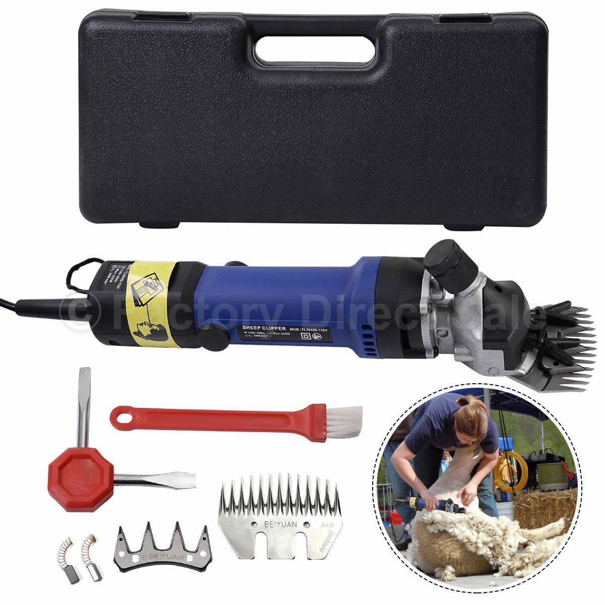 Waybackhome 320W Electronic Shearing Clipper Sheep Shearing Machine Goats Livestock