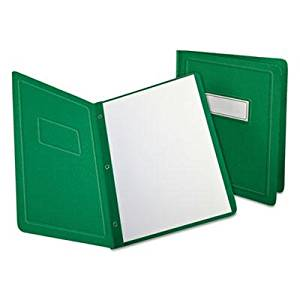 """Oxford - Report Cover 3 Fasteners Panel And Border Cover Letter Green 25 Per Box """"Product Category: Binders & Binding Systems/Report Covers & Pocket Portfolios"""""""