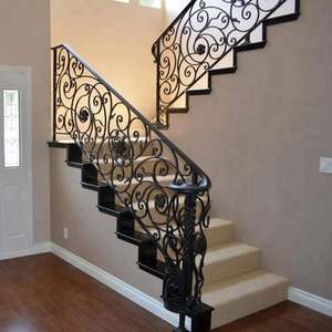 Customizable wrought iron interior and exterior stairs