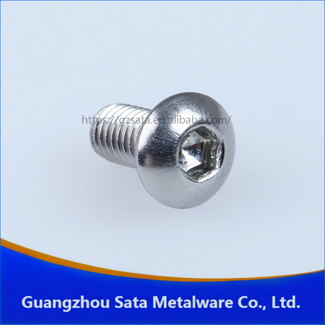 ISO 7380 Metric 18-8 Stainless Steel Hex Drive Rounded Head Screws