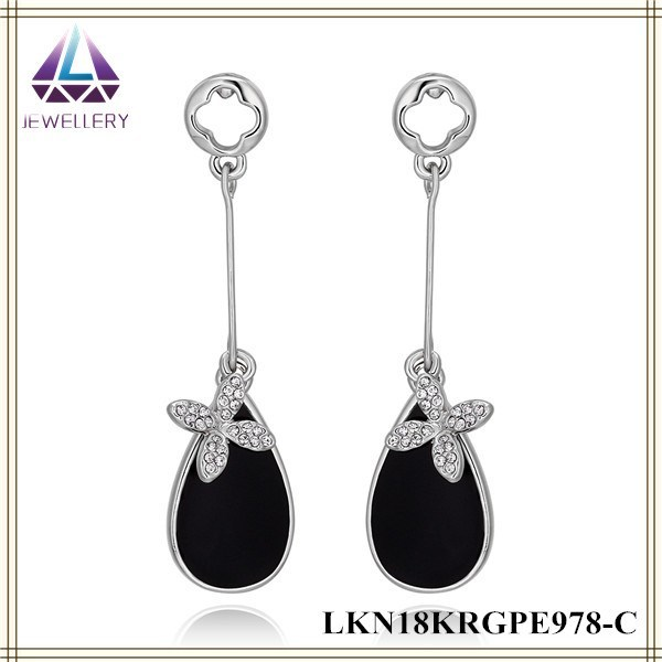 Wholesale White Gold Tin Alloy Long Earrings Trendy Jewelry ...