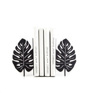 Metal LEAF bookends Decorative metal bookends Book stand