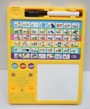 2016 custom educational children sound book&reading pen with writing pad