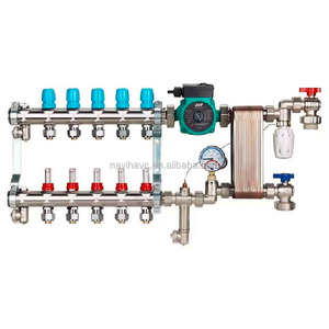 Brazed plate heat exchanger water mixing for underfloor heating system