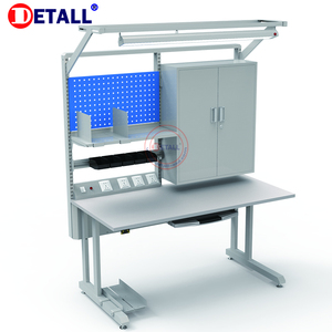 Detall - computer technician table adjustable height workbenches