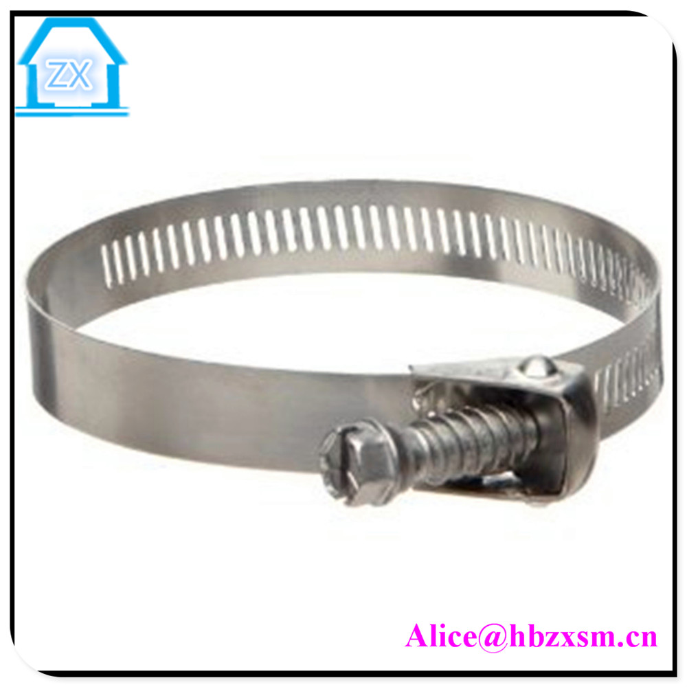 Precision Brand QR-H Quick Release Partial Stainless Worm Gear Hose Clamp