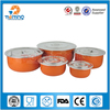 steel and pp food box/5pcs fresh box set/round storage box with lid