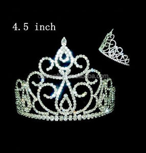 girls hair accessories crystal pageant princess tiara crown and wand