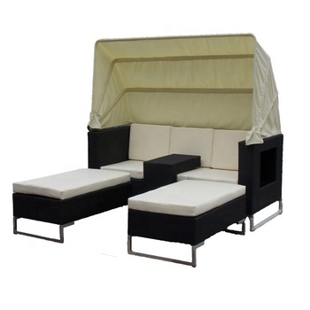 Admirable Quick Delivery Fashion Style Hotel Spa Indoor Rattan Wicker Double Bed With Mid Table And Sun Tent Design Chaise Lounge Buy Chaise Lounge Wicker Machost Co Dining Chair Design Ideas Machostcouk