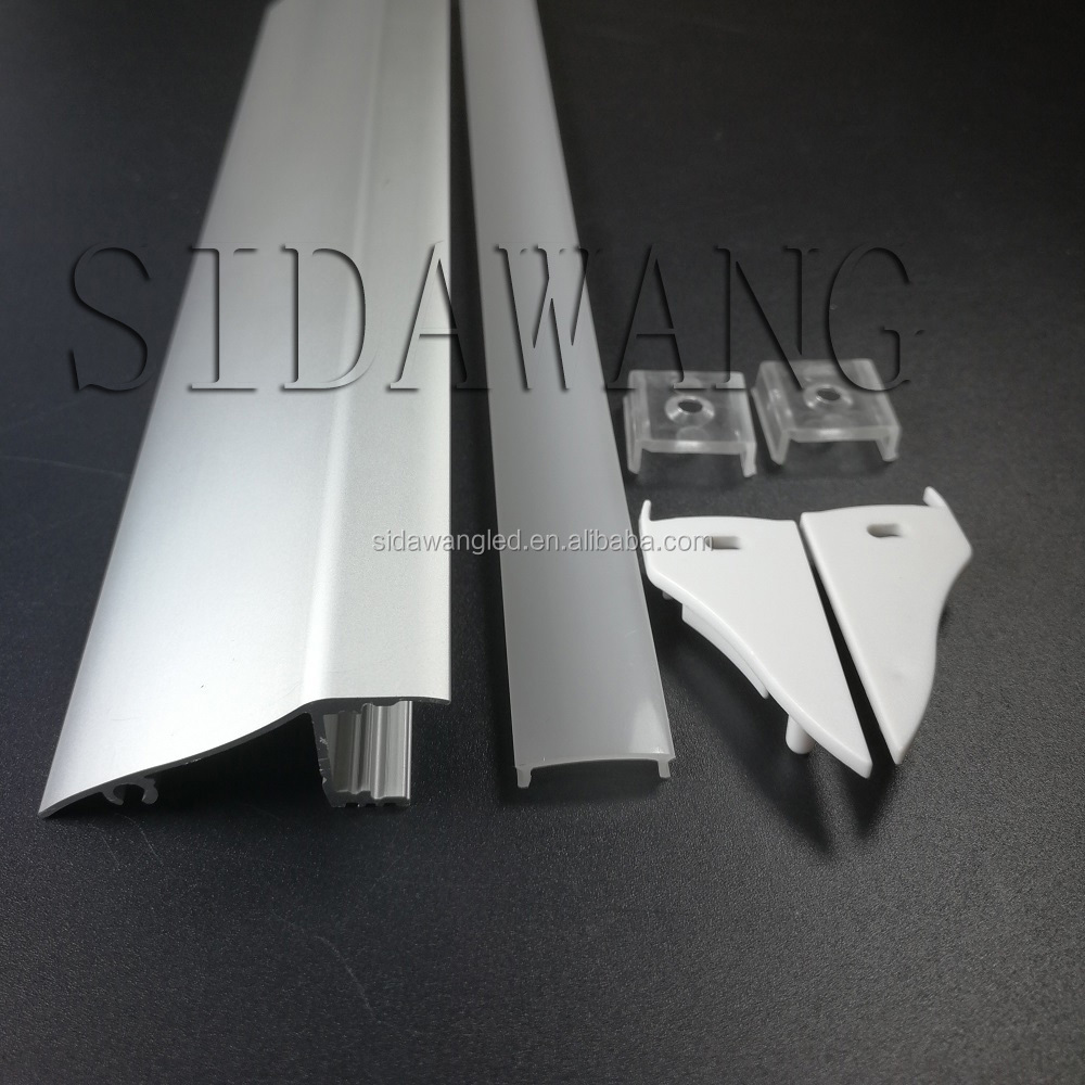 10set/pack(25m/pack), 2.5m Wall Mount LED Aluminum Channel Profile for Led Strip, Diffuser,Surface Mount,Ceiling Molding SDW052