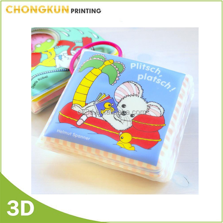 Lowest Price Waterproof Custom Print Soft Plastic Baby Bath Book