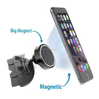 2016 adjustable powerful magnetic 360 rotating car CD slot cell phone mount holder compatible with all phones