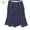 High Quality New Design Women Stitching Style Hem Lace Long Denim Jean Skirt