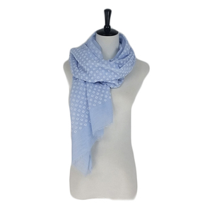 Lovely flower woman TR cotton scarf with fringes