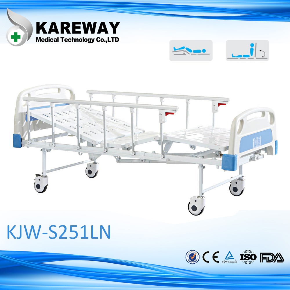 China Foshan 2 functions cheap medical hospital manual bed hill rom