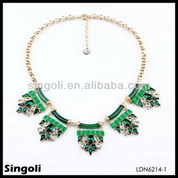emerald gade green costume jewellery beads necklaces  sc 1 st  Yiwu Singoli Jewelry Factory - Alibaba & emerald gade green costume jewellery beads necklaces View natural ...