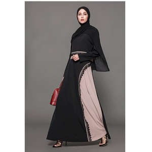Latest abaya Egypt Kaftan abaya Islamic black Muslim polyester dress abaya burqa indonesia muslim dress