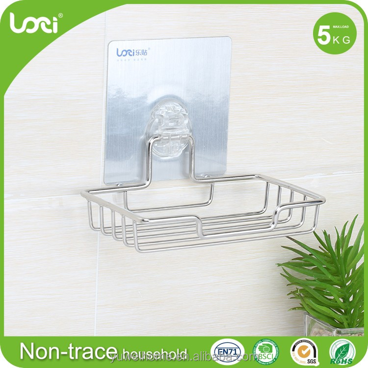 China manufacturer of all types bathroom accessories new design stainless steel soap box soap dryer holder