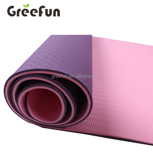 1/2 Inch Thick 2 layer double Sided Mandala Yoga Mat , 183*61cm 180*80cm Eco TPE Exercise Mat , High Density Fitness Padding