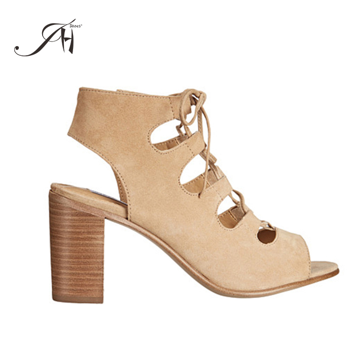 2018 NEW TREND peep toe imitation wood block high <strong>heel</strong> and boot design fashion sandal