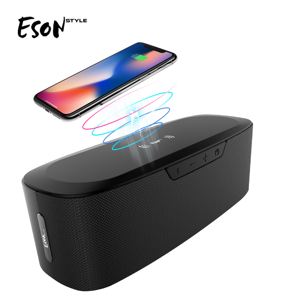 Eson Style 15 Portable HiFi Fast Charging qi power bank 20W big power Bluetooth speaker with wireless charger фото