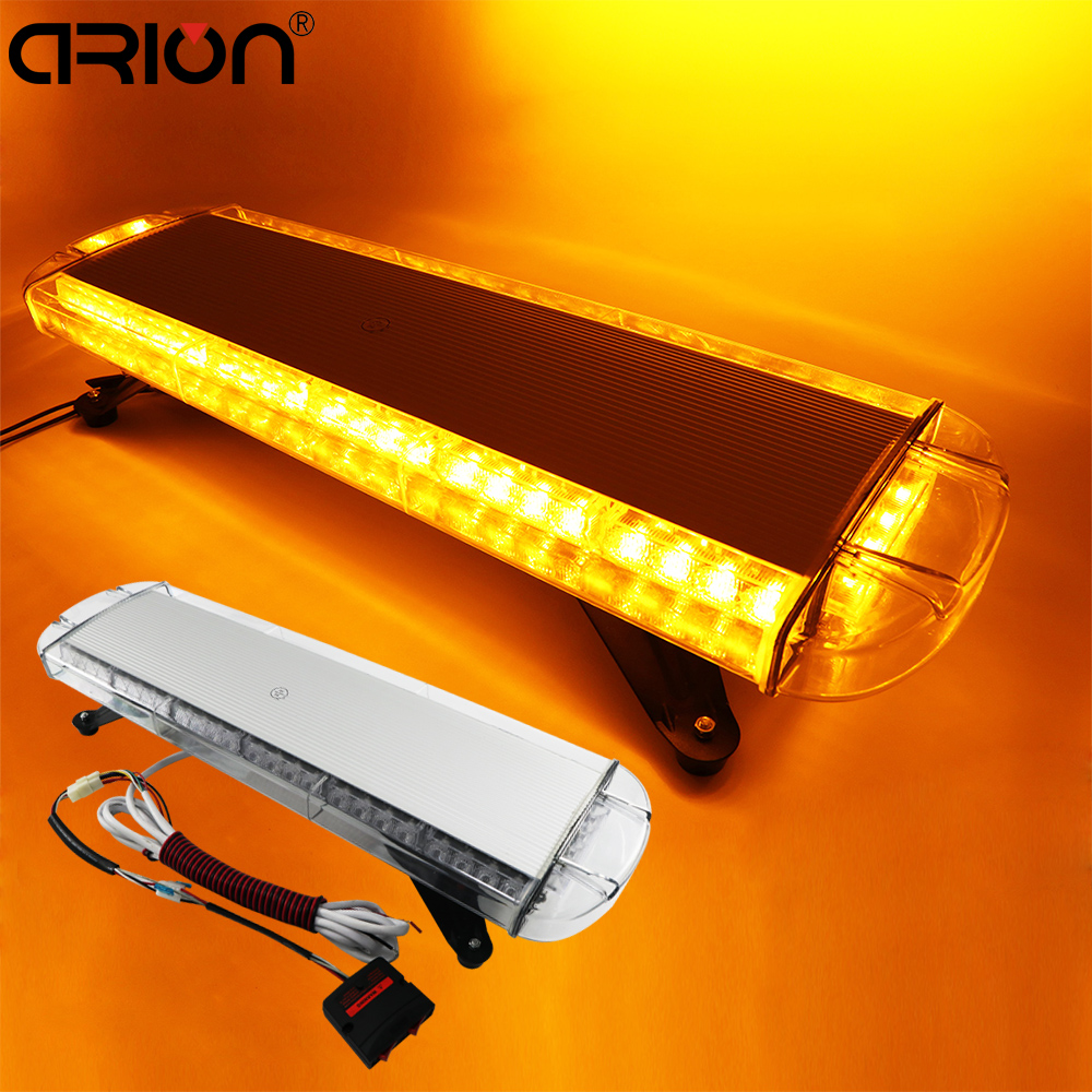"30"" 56W Law Enforcement Police yellow amber LED warning Light emergency vehicle Strobe light bar 12V 24V"