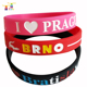 promotional bulk cheap custom rubber bangle embossed debossed wristband customized festive sport silicone bracelet