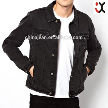 Wholesale Black Classic Style Denim Jacket For Men Jxf063