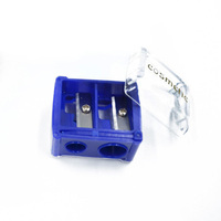 Cosmetic Promotional Gift Custom Two Holes Eyebrow Pencil sharpener